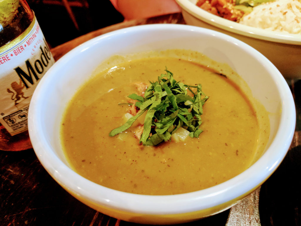 Potato and Coriander Soup, The Hug and Pint, Glasgow