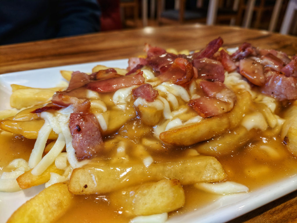 Bacon Poutine, Roasters Deli, Glasgow