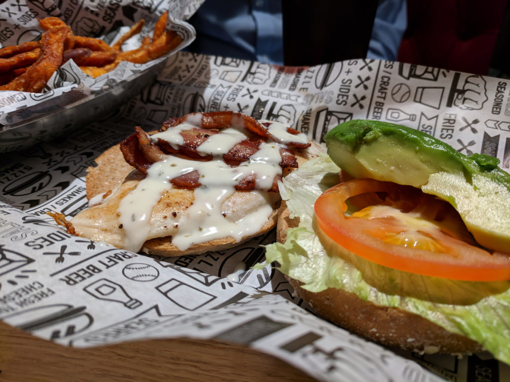 Grilled chicken avocado club- Smashburger, Glasgow