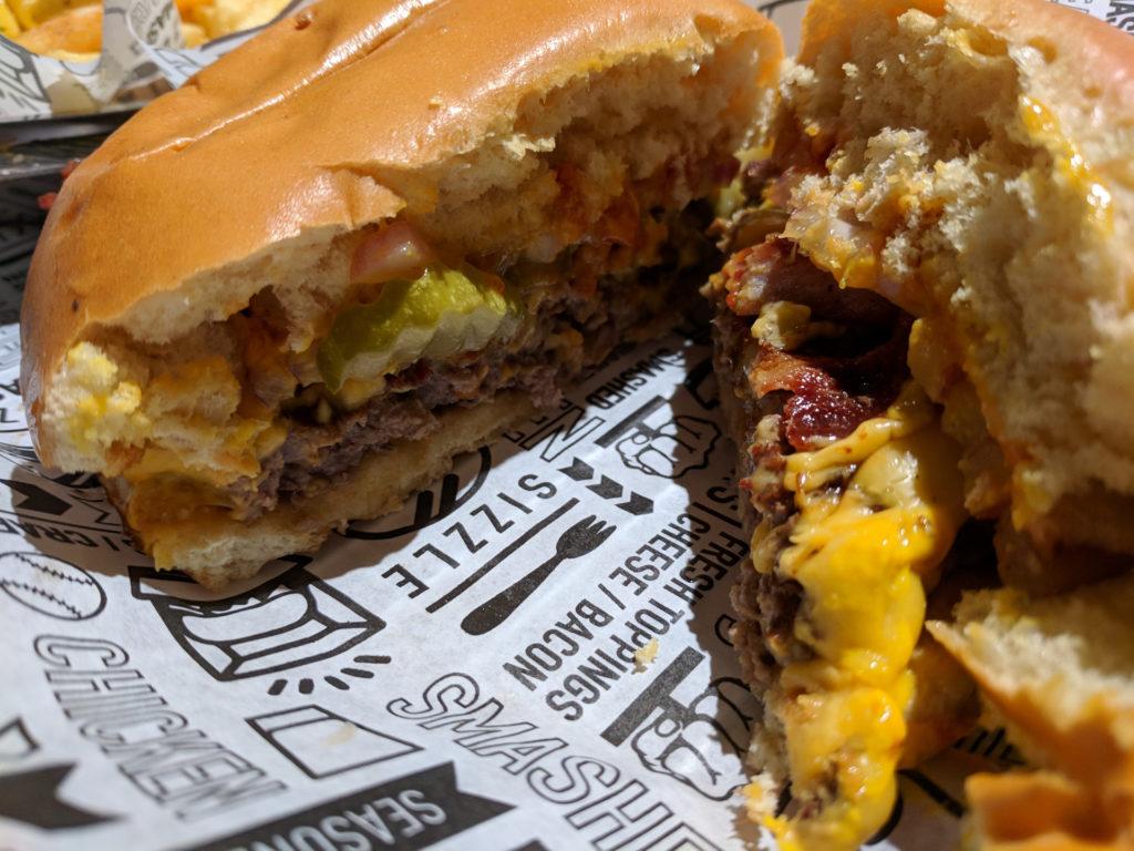 BBQ, bacon & cheddar burger - Smashburger, Glasgow