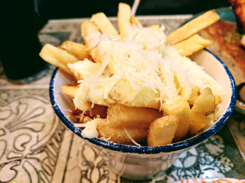 Garlic Parmesan Chips Babs, Glasgow