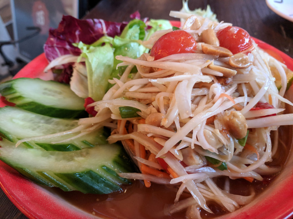 Som Tam (Green Papaya Salad) - Thaikhun, Glasgow