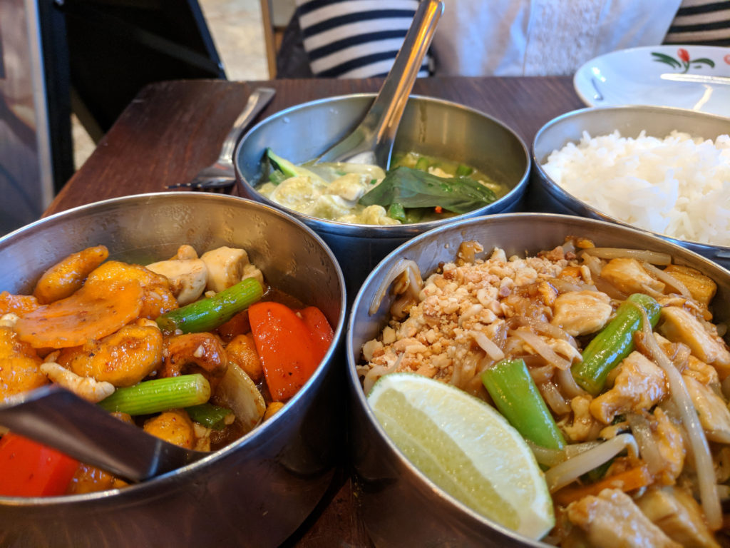 Phad Thai, Chicken with Cashews & Green Curry - Thaikhun, Glasgow