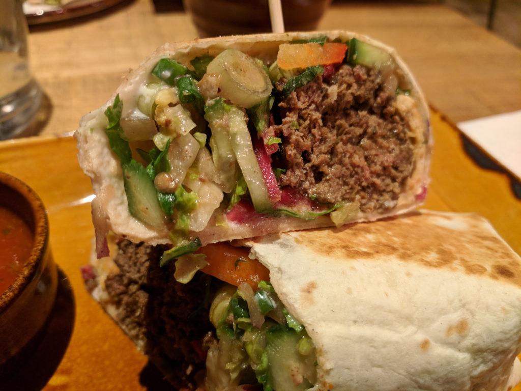 Lebanese Kafte Kebab - Mezzidakia, Glasgow