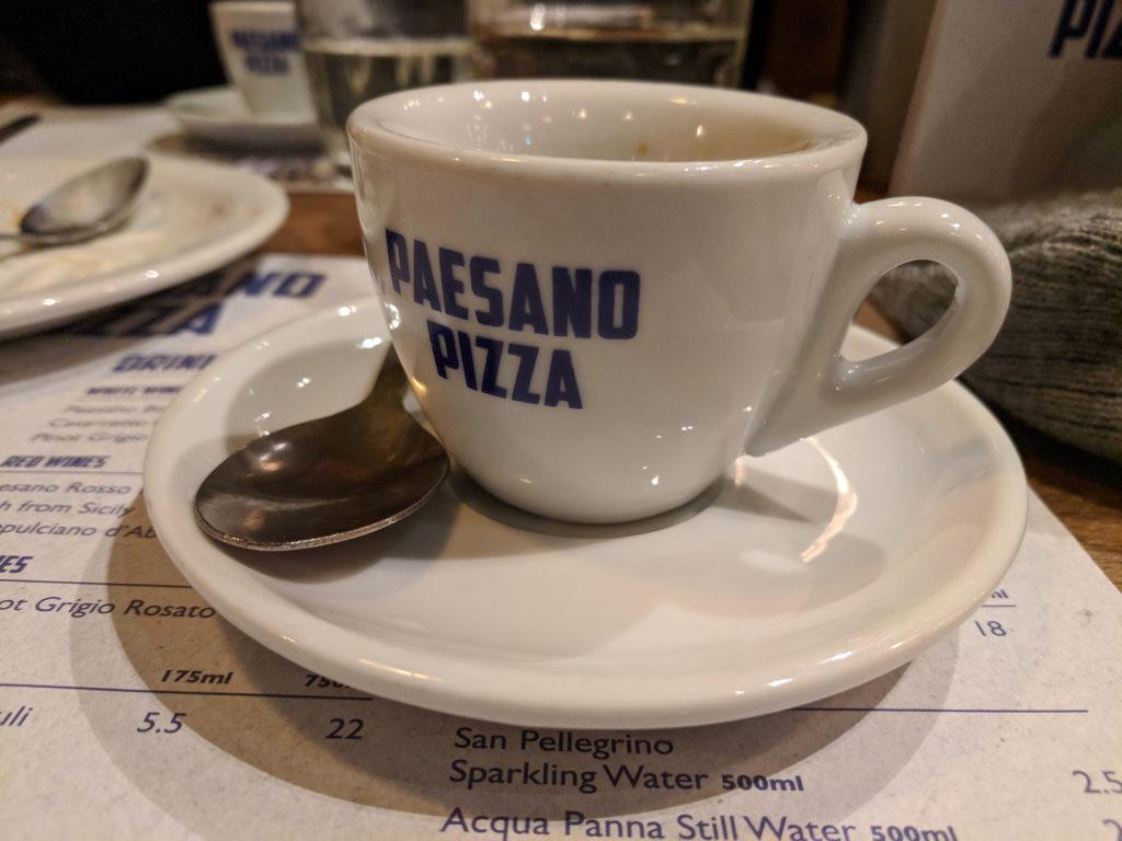 Espresso - Paesano Pizza, Glasgow